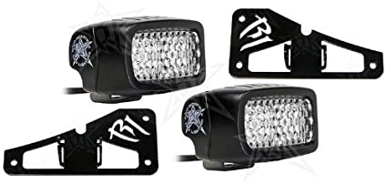 Led Backup Lights >> Rigid Industries Jeep Jk Led Backup Light Kit Includes Rigid Led Backup Lights 98000 And Tail Light Mounting Brackets 40311 And 40322 Fits Jeep