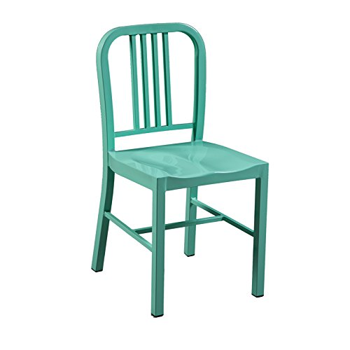 Kitchen Dining Chair - Vintage Style Metal - Bistro Cafe Style - Indoor and Outdoor Use - Very Strong and Durable BrackenStyle