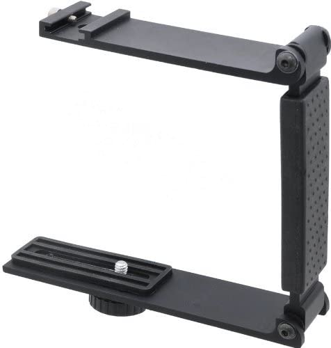 Accommodates Microphones Or Lights Aluminum Mini Folding Bracket for Canon VIXIA HF R30