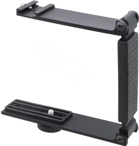 Aluminum Mini Folding Bracket For Nikon Coolpix L820, L830 & L840 (Accommodates Microphones, Flashes Or Both)