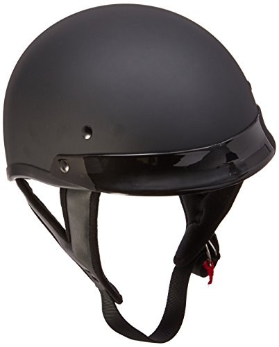 Skid Lid Traditional Helmet (Flat Black, Large)
