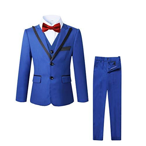 kretenier 5 Piece Formal Boys Suits Set- Slim Fit Dresswear Suit for Boys (Royal Blue, 10)