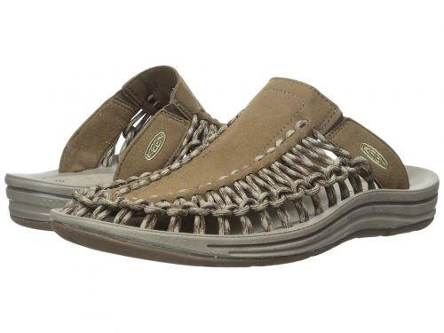 Keen(キーン) メンズ 男性用 シューズ 靴 サンダル フラット Uneek Slide - Dark Earth/Brindle [並行輸入品] B07C8GWDBS 9.5 D - Medium