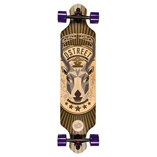 D Street Drop Through Stag Longboard complet