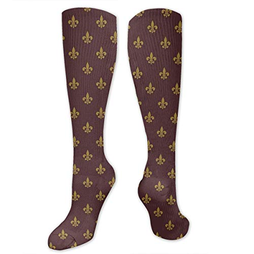 Compression Socks,French Inspired Pattern European Culture Abstract Vintage Renaissance