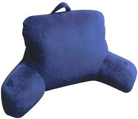1 Mainstay Dark Blue Micro Mink Super Soft Plush Reading Pillow Bedrest