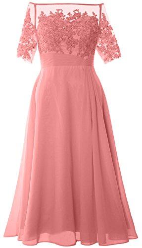 Dress Off Mother Zartrosa Tea Women Evening Shoulder MACloth Length Gown Bride Formal of TpYfUcqw