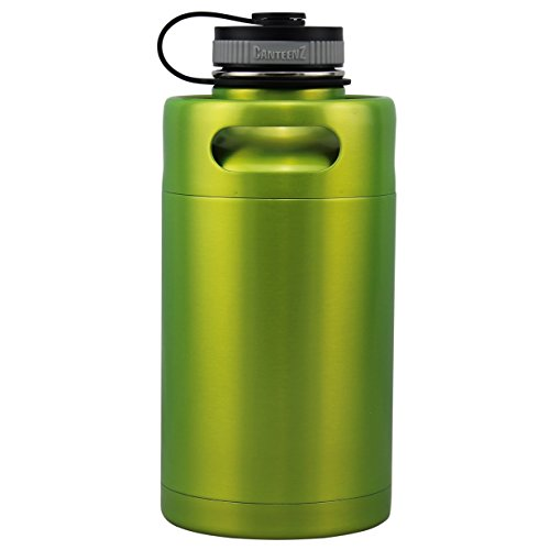 Shock Green Vacuum Insulated 64oz Stainless Steel Mini Keg Beer Growler
