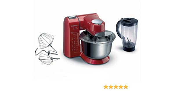 Bosch MUM 82R1 1400W 5.4L Rojo - Robot de cocina (5,4 L, Rojo, 1,5 L, Acero inoxidable, 1400 W): Amazon.es: Hogar