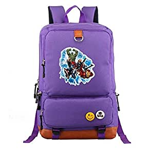 Asdfnfa Backpack, Student Schoolbags 20-35L Travel Package Unisex Casual Bag Computer Large Capacity (Color : Purple)