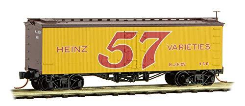 Micro-TRAI ns MTL N-Scale Heinz Yellow Car #4 36ft Wood Reefer 57 Varieties #466