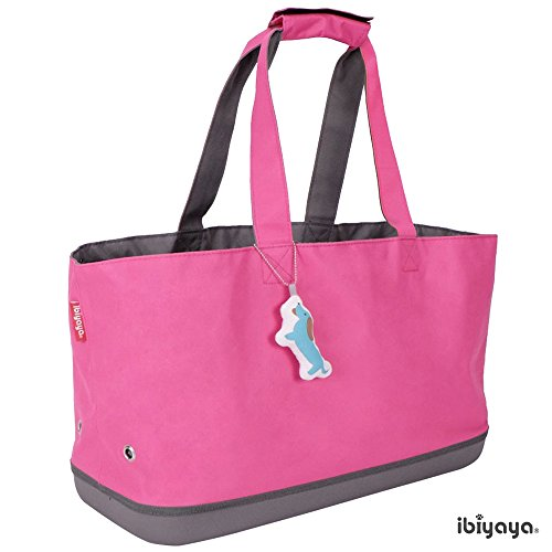 Hard bottom airline approved pet carrier IBIYAYA pink pet shoulder bag soft sided perfect for dogs cats and small animal