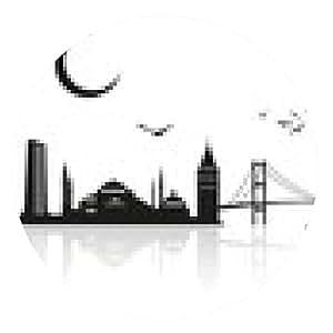 alfombrilla de ratón silueta de Estambul - ronda - 20cm