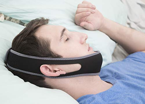 (Anti Snore Chin Strap for Comfortable and Better Sleep, Anti-Snoring Device with Adjustable Jaw Strap Aids Snoring Naturally, Made of Flexible Fabric Makes The Best Solution for a Peaceful Night)