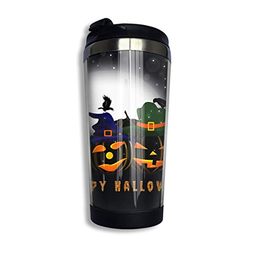 Changan Stainless Steel Thermal Insulation Water Bottles Happy Halloween Pumpkin Travel Mug Non-Leaking Sports Kettle for Outdoor Running Camping Gym