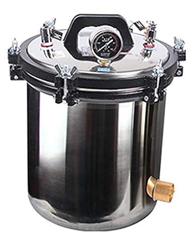 CGOLDENWALL Esterilizador de vapor portátil autoclave de acero inoxidable Calefacción autoclave eléctrica unidad esterilizador de esterilización de alta presión (capacidad: 18L)