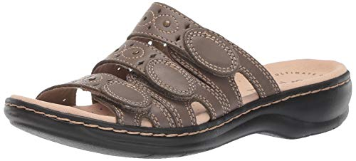 CLARKS Women's Leisa Cacti Q Sandal Olive Leather 090 M US