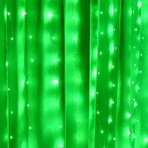 Fairy Curtain Lights, 16-Color Changing String Lights, USB Remote Control, Rainbow Backdrop, Window Fairy Lights 8 Lighting Modes, Window Icicle Lights for Christmas, Weddings, Party, Room Decor