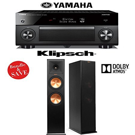 Yamaha RX-A2060BL AVENTAGE 9.2-Channel Network A/V Receiver +  Pair of Klipsch RP-280FA Dolby Atmos Floorstanding Loudspeakers - Bundle