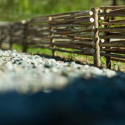 BOGATECO 3 x Valla de Madera de Avellano | 90 cm de Largo & 20 cm de Altura | Separa los Partes de un Jardín | Protege los Flores | Función Decorativa | De fácil Montaje: Amazon.es: Jardín