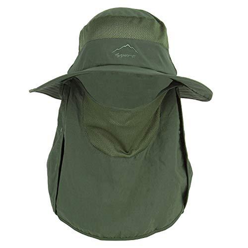 Fishing Hat for Men ,Fashion Summer Outdoor Sun Protection Fishing Cap Neck Face Flap Hat Wide Brim Fishing Hat Safari UPF 50+