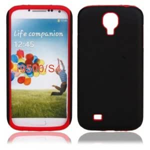 Frosted Silicone Case for Samsung i9500 Red