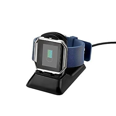 Fitbit Blaze Charger Charging Stand, BeneStellarReplacement Charging Dock for Fitbit Blaze Smart Fitness Watch (Black)
