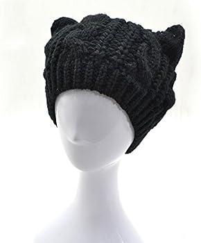 QS_Go Sombreros de Mujer Gato Sombreros de Moda Gorras para Mujer ...
