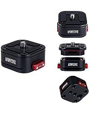 """ANDYCINE Klauw Camera Quick Release Mount 1/4 """"& 3/8"""" Schroefgat voor statief Monopod, Camera DSLR, Camcorders, Gimbal, Stabilisator, Quick Release, Slide Lock, Quick Switch Montage Opties"""