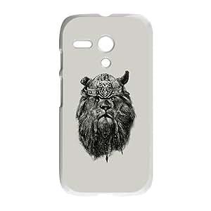 Motorola G Cell Phone Case White The eye of the Lion Viking Nsmrx
