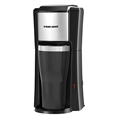 Black & Decker Single Serve Coffee Maker, Black/Stainless Steel