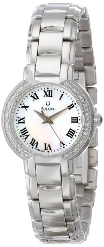 Bulova Women's 96R159 Classic Stainless Steel Diamond-Accented Watch