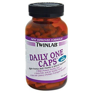 Twinlab Daily One Caps Multi-Vitamin and Mineral Supplement with Iron, 180 (One Daily Multivitamin Supplement)