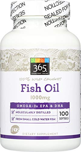365 Everyday Value, Fish Oil, 100 ct (Best Value Fish Oil)