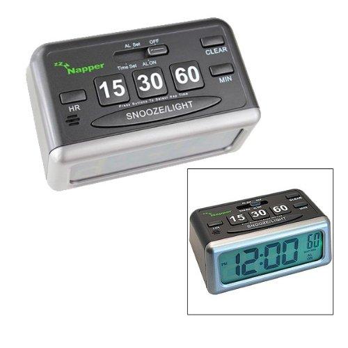 Napper Alarm Clock - Set your Own Nap Time! LCD Screen Display (Napper Alarm Clock)