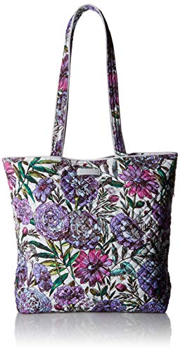 - Vera Bradley Iconic Tote Bag, Signature Cotton, Lavender Meadow