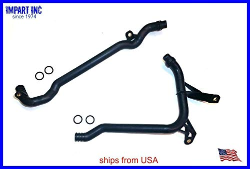 (AAA+ U.S.A. Heater Water Coolant Pipe Set w/Orings for BMW 11 53 7 502 525, 11 53 1 705 210)