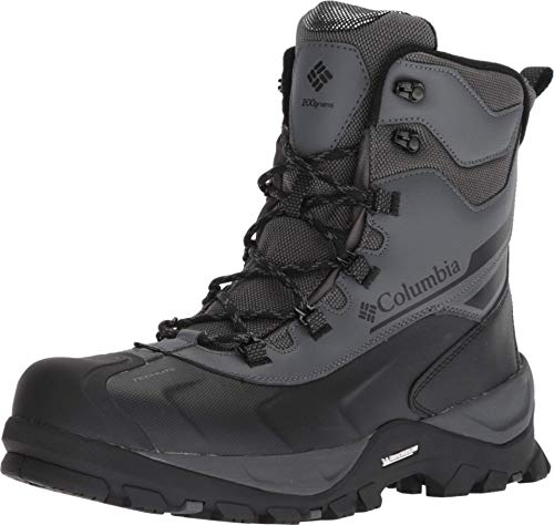 Columbia Boot Bugaboot Plus IV Omni-Heat Mid Calf, Graphite, Black, 10 Wide