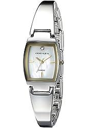 Anne Klein Women's AK/2083MPTT Diamond-Accented Two-Tone Bangle Watch