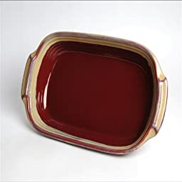 Tumbleweed Pottery 5584 Lasagna Dish - Red