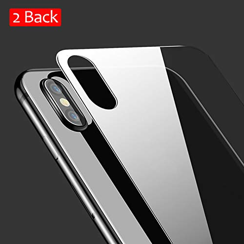 JingooBon Back Screen Protector Compatible with iPhone Xs / iPhone X [2-Pack], Rear Tempered Glass [3D Touch] Temper Glass Film Anti-Fingerprint/Scratch Compatible with iPhoneXs / iPhoneX (5.8 inch)