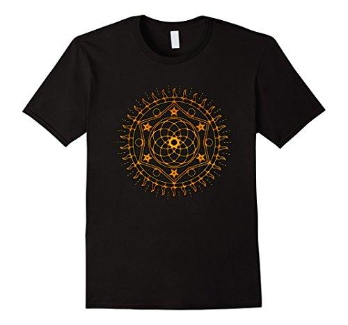 Mens Sacred Geometry Pentagram Star Wiccan Pagan Yoga T S...