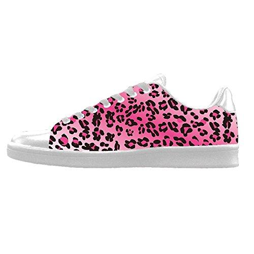 Custom Stampa leopardo Mens Canvas shoes I lacci delle scarpe in Alto sopra le scarpe da ginnastica di scarpe scarpe di Tela.