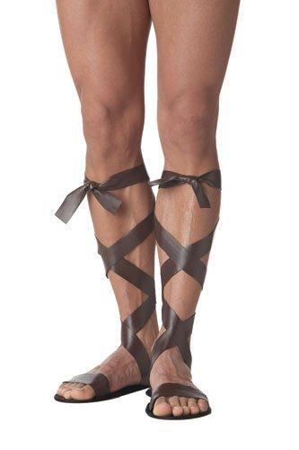 California Costumes Men's Roman Sandal, Brown,One Size Costume Accessory ()
