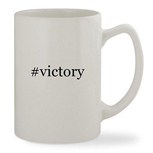 #victory - 14oz Hashtag White Statesman Sturdy Ceramic Coffee Cup Mug