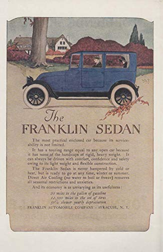 Its serviceability is not limited Franklin Sedan ad 1919 ARR
