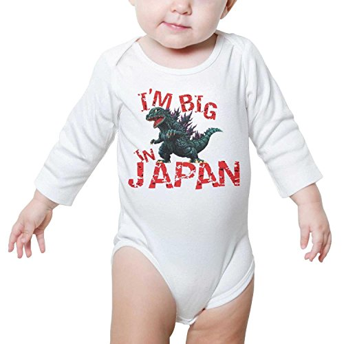 Halloween Costumes In Omaha (TylerLiu Godzilla I'm Big in Japan Funny Unisex Baby Boys Girls Onesie Bodysuit Soft)