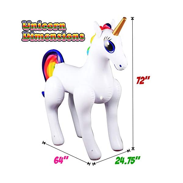 Giant Inflatable Sprinkler Unicorn for Outdoors Yard Lawn for Kids and Adults 6 Ft High 4