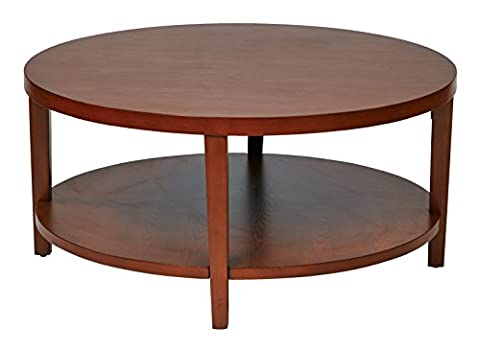 Ave Six OSP Furniture Merge Round Coffee Table, 36