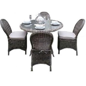 Memphis Mobilier de jardin en rotin 4 places avec table ...